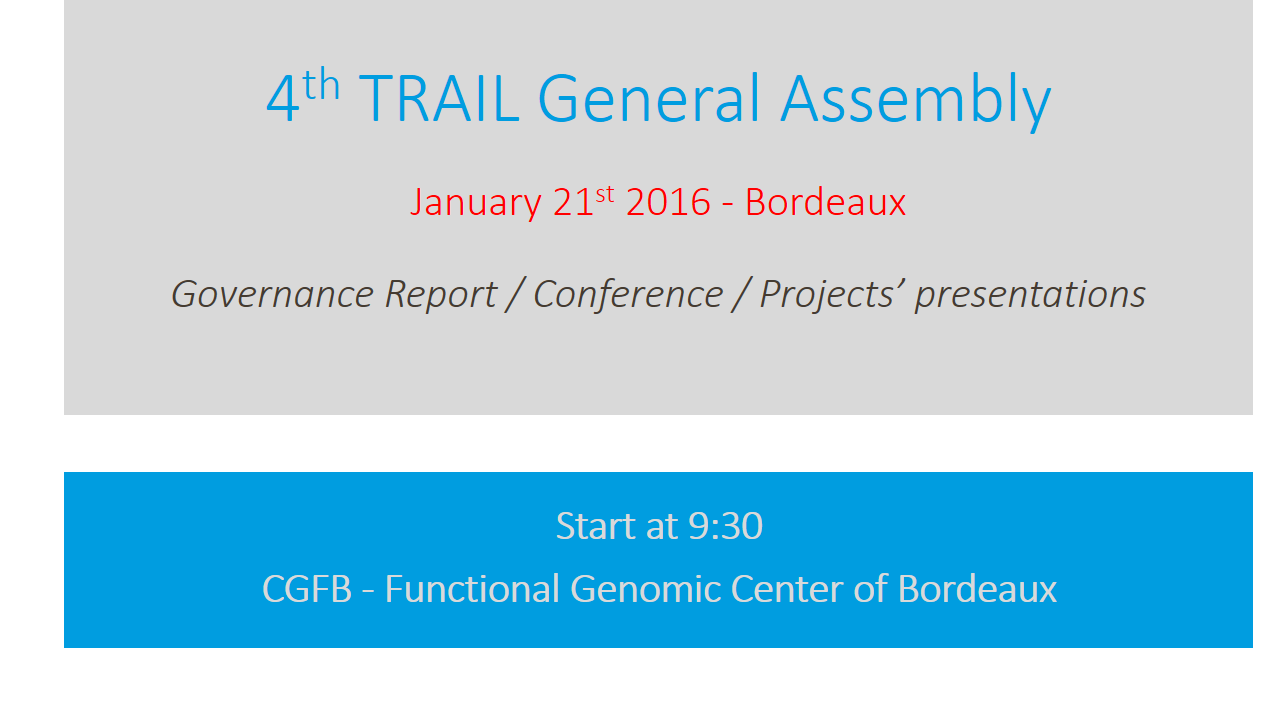 4th TRAIL General Assembly